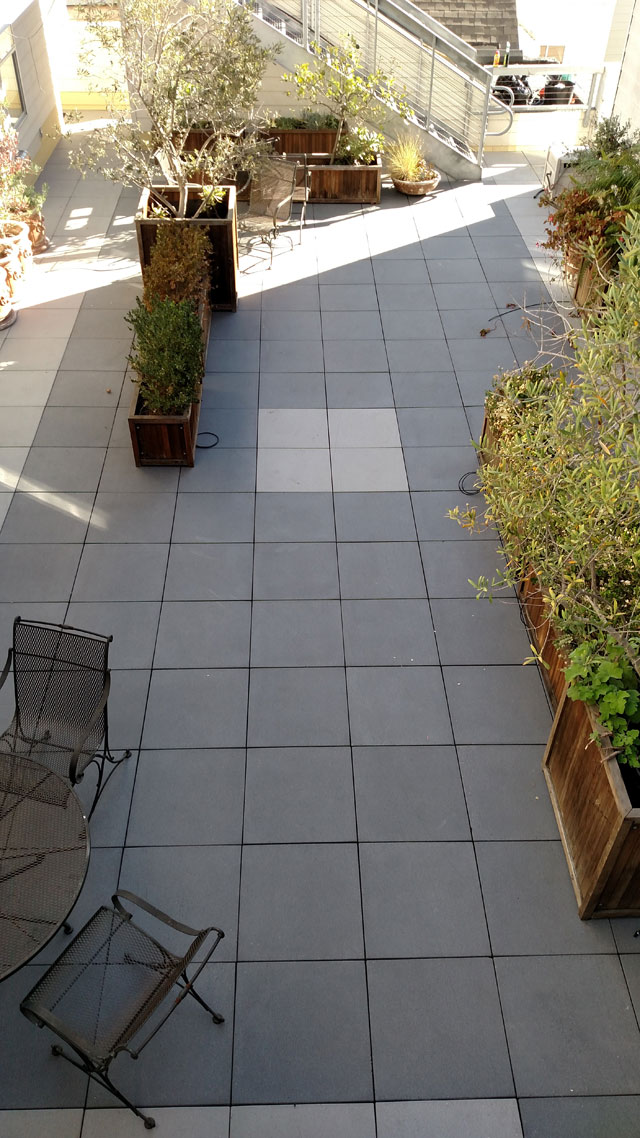 Completed paver courtyard