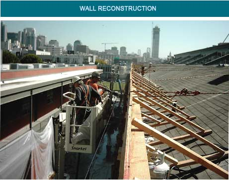 concrete wall restoration, repair and reconstruction projects